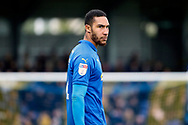 AFC Wimbledon defender Terell Thomas (6) looking down the pitch during the EFL Sky Bet League 1 match between AFC Wimbledon and Bolton Wanderers at the Cherry Red Records Stadium, Kingston, England on 7 March 2020.