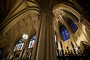 pillar and vault of the St. Patricks Cathedral New York city