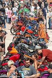 Crowds at the Boardwalk Bike Show during Daytona Beach Bike Week, FL. USA. Friday, March 15, 2019. Photography ©2019 Michael Lichter.