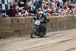 Jeff (Hollywood) Baer at the Bradford Beach Brawl, a TROG style beach racing event, during the Harley-Davidson 115th Anniversary Celebration event. Milwaukee, WI. USA. Saturday September 1, 2018. Photography ©2018 Michael Lichter.