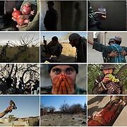 """Image edit for print installation in a grid for """"Zhari-Panjwaii: Dispatches from Afghanistan"""", exhibition at Dalhousie University Art Gallery in Halifax, Nova Scotia, Canada in 2009. Also exhibited at Gallery TPW in Toronto, Canada, curated by Blake Fitzpatrick."""