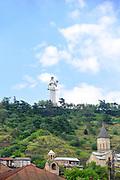 Georgia, Tbilisi, The aluminium statue of Kartlis Deda (the Mother of Kartli or the Mother of Georgia) by Elguja Amashukeli 1958