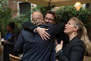 SAM KELLER; OLAFUR ELIASSON,  BLOOMBERG LUNCH, METROPOLE HOTEL, . Venice Biennale, 10 May 2017