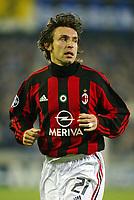 Fotball, 4. november 2003, Champions League,, Club Brugge ( Brügge )-Milan 0-1,  Pirlo, Milan