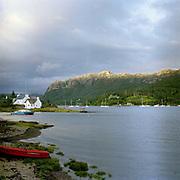 Plockton, a village located on shores of Loch Carron in the Scottish Highlands