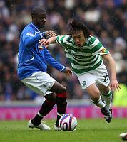 Fotball<br /> Skottland<br /> 09.05.2009<br /> Rangers v Celtic 1-0<br /> Foto: Colorsport/Digitalsport<br /> NORWAY ONLY<br /> <br /> Maurice Edu and Shunsuke Nakamura