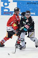 08.03.2011, Dielsdorf, Eishockey 2. Liga, Illnau - Chur, Orlando Fusco (r) gegen Enzo Corvi (l)  (Thomas Oswald/hockeypics)