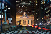 Grand Central Terminal located at 42nd street above Park Avenue in Manhattan.