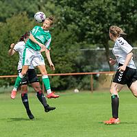 02.08.2020, wohninvest Weserstadion Platz 12, Bremen, GER,FSP, FLYERALARM, FFBL SV Werder Bremen vs  SV Henstedt-Ulzburg, <br /> <br /> <br /> <br />  im Bild<br /> <br /> Nina Lührßen / Luehrssen (WerderBremen27) beim Kopfball<br /> <br /> Foto © nordphoto / Kokenge