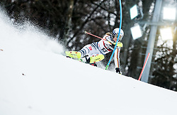 """Lena Duerr (GER) competes during 1st Run of FIS Alpine Ski World Cup 2017/18 Ladies' Slalom race named """"Snow Queen Trophy 2018"""", on January 3, 2018 in Course Crveni Spust at Sljeme hill, Zagreb, Croatia. Photo by Vid Ponikvar / Sportida"""