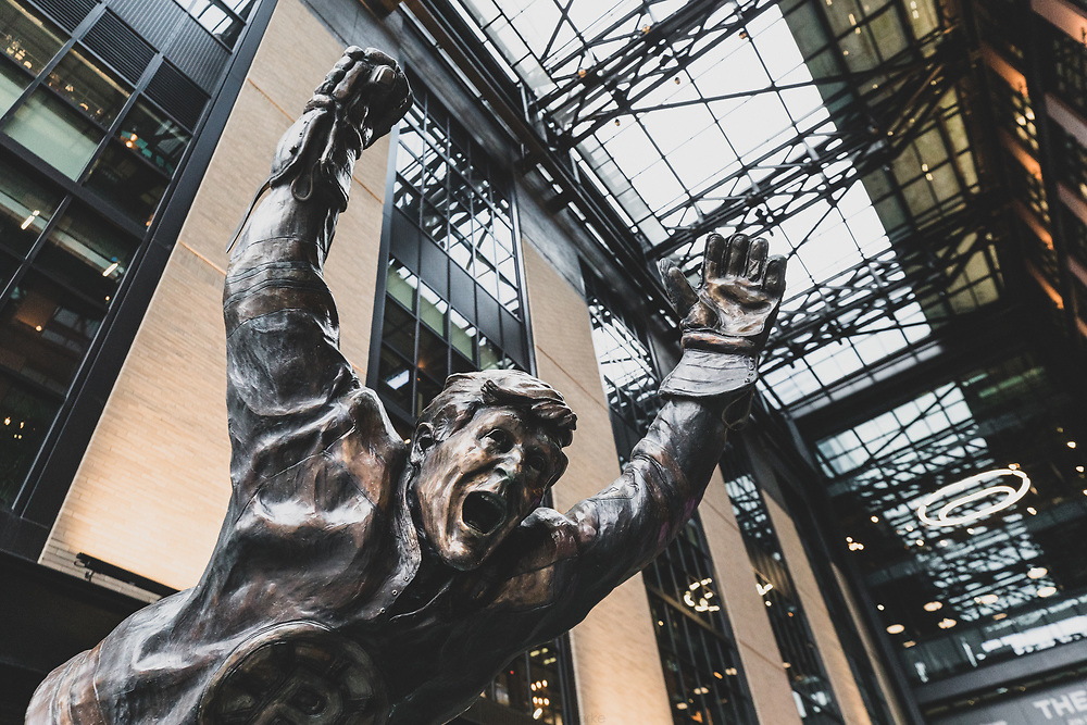 The Bobby Orr statue at North Station.