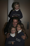 Philip von Stauffenberg and his daughters Mafalda, (above)<br />Isabel and Olivia. Margaret Salmon supported by Max Mara. Whitechapel. 24 January 2007.  -DO NOT ARCHIVE-© Copyright Photograph by Dafydd Jones. 248 Clapham Rd. London SW9 0PZ. Tel 0207 820 0771. www.dafjones.com.