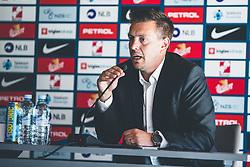Matjaz Krajnik during press conference prior to second round of qualifications for World Championships 2022, Brdo Pri Kranju, 24. August 2021, Slovenija. Photo by Grega Valancic