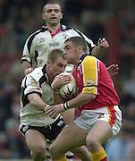 © Intersport Images .Photo Peter Spurrier.12/05/2002.Sport - Rugby League.London Broncos vs Widnes Vikings.Nigel Roy?....