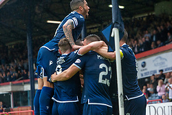 Dundee's Andrew Nelson (9) cele scoring their goal. Dundee 1 v 0 Ayr United, Scottish Championship game played 10/8/2019.