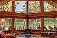Mountain cabin interior