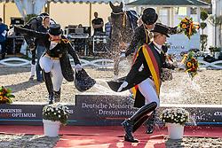 WERTH Isabell (GER), BREDOW-WERNDL Jessica von (GER), SCHNEIDER Dorothee (GER)<br /> Siegerehrung/Meisterehrung<br /> Deutsche Meisterschaft der Dressurreiter<br /> Klaus Rheinberger Memorial<br /> Nat. Dressurprüfung Kl. S**** - Grand Prix Special<br /> Balve Optimum - Deutsche Meisterschaft Dressur 2020<br /> 19. September2020<br /> © www.sportfotos-lafrentz.de/Stefan Lafrentz