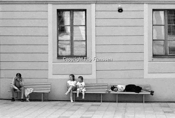 Tsjecho-Slowakije, tsjechie, Praag, 10-6-1988Straatbeeld van de tsjechische hoofdstad in de periode toen europa verdeelt was door het ijzeren gordijn .Foto: Flip Franssen
