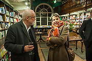 DAVID KIRKE; TRISH LANCASTER, William Fitzgerald, Book launch ,  'How to read a Latin poem - if you can't read Latin yet' published by OUP.- Daunts bookshop Marylebone, London 21 February 2013.