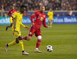 STYLEPREPENDHarrison Afful (25) of Columbus Crew SC controls ball during 2nd leg MLS Cup Eastern Conference semifinal game against Red Bulls at Red Bul Arena Red Bulls won 3 - 0 agregate 3 - 1 and progessed to final  (Credit Image: © Lev Radin/Pacific Press via ZUMA Wire)