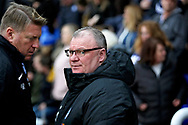 Peterborough manager Steve Evans and his assistant Paul Rayner before the EFL Sky Bet League 1 match between Peterborough United and Scunthorpe United at London Road, Peterborough, England on 1 January 2019.