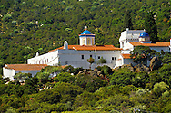 The 17th century Greek Orthodox Monatery of Chrysoleontissa, Aegins, Greek Saronic Islands. .<br /> <br /> If you prefer to buy from our ALAMY PHOTO LIBRARY  Collection visit : https://www.alamy.com/portfolio/paul-williams-funkystock/aegina-greece.html <br /> <br /> Visit our GREECE PHOTO COLLECTIONS for more photos to download or buy as wall art prints https://funkystock.photoshelter.com/gallery-collection/Pictures-Images-of-Greece-Photos-of-Greek-Historic-Landmark-Sites/C0000w6e8OkknEb8