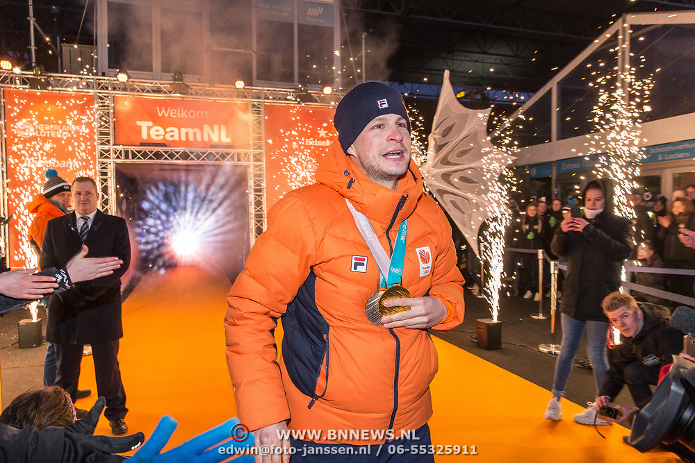 NLD/Amsterdam/20180226 - Thuiskomst TeamNL, Sven Kramer