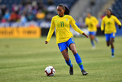 February 27, 2019 - Chester, PA, U.S. - CHESTER, PA - FEBRUARY 27: Brazil Forward Adriana (11) carries the ball in the second half during the She Believes Cup game between Brazil and England on February 27, 2019 at Talen Energy Stadium in Chester, PA. (Photo by Kyle Ross/Icon Sportswire) (Credit Image: © Kyle Ross/Icon SMI via ZUMA Press)