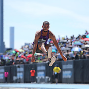 Benjamin Compaore, France, in action in the Men's Triple Jump Competition during the Diamond League Adidas Grand Prix at Icahn Stadium, Randall's Island, Manhattan, New York, USA. 13th June 2015. Photo Tim Clayton