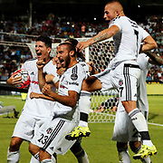 Besiktas's (L-R) Mario Gomez, Cenk Tosun, Gokhan Tore during their Turkish Spor Toto superleague soccer match Gaziantepspor between Besiktas at the Kamil Ocak stadium in Gaziantep Turkey on Friday 28 August 2015. Photo by Aykut AKICI/TURKPIX