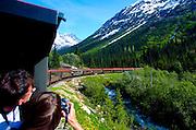 Alaska, Photography aboard the White Pass Yukon railroad