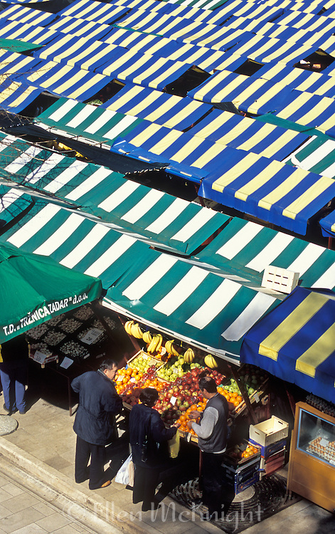 Marketplace in Zadar, Croatia