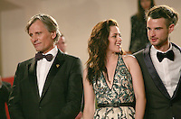 Viggo Mortensen, Kristen Stewart, Tom Sturridge, at the On The Road gala screening red carpet at the 65th Cannes Film Festival France. The film is based on the book of the same name by beat writer Jack Kerouak and directed by Walter Salles. Wednesday 23rd May 2012 in Cannes Film Festival, France.
