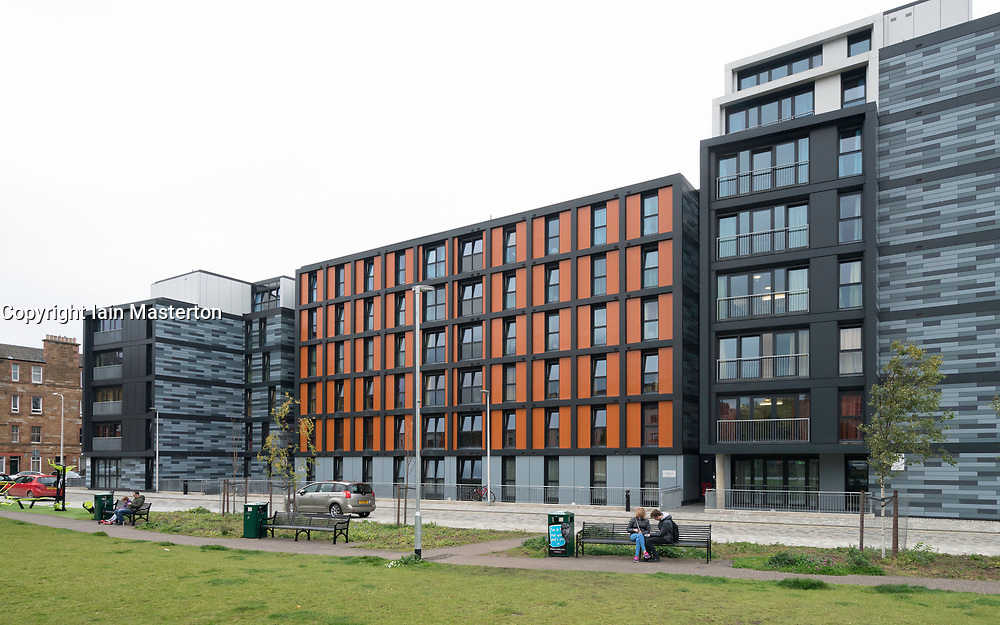 New student accommodation flats for Napier University in Edinburgh, Scotland, United Kingdom