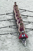 London, Great Britain, Oxford Brookes University , passing under Chiswick bridge on their way the the start of the 2002 Head of the River Race Championship Course Chiswick [Mortlake] to Putney. River Thames. Saturday, [Mandatory Credit. Peter SPURRIER/Intersport Images. 20020323. Head of the River Race, London. UK.