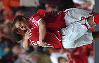 Photo: Ian Hebden.<br />Nottingham Forest v Chesterfield. Coca Cola League 1. 02/09/2006.<br />Forest's Nicky Southall (R) celebrates scoring.
