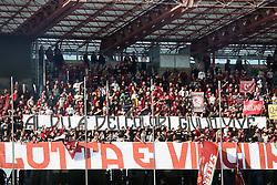 """Foto /Filippo Rubin<br /> 12/11/2017 Cesena (Italia)<br /> Sport Calcio<br /> Cesena - Salernitana - Campionato di calcio Serie B ConTe.it 2017/2018 - Stadio """"Dino Manuzzi""""<br /> Nella foto: I TIFOSI DELLA SALERNITANA<br /> <br /> Photo /Filippo Rubin<br /> November 12, 2017 Cesena (Italy)<br /> Sport Soccer<br /> Cesena - Salernitana - Italian Football Championship League B ConTe.it 2017/2018 - """"Dino Manuzzi"""" Stadium <br /> In the pic: SALERNITANA'S SUPPORTERS"""