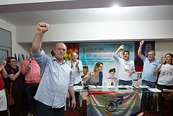 May 5, 2018 - Sao Paulo, Sao Paulo, Brazil - Brazilian presidential candidate CIRO GOMES, of the Democratic Workers Party (PDT), attends the opening ceremony of a congress on diversity in the city of Guarulhos, Brazil. (Credit Image: © Paulo Lopes via ZUMA Wire)