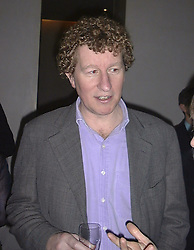 Journalist SEBASTIAN FAULKS at a party on <br /> 25th January 1999.