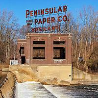 """Peninsular Paper Co.""<br /> <br /> Beautiful and historical Peninsular Paper Co. on the banks of the Huron River in Ypsilanti, Michigan!"