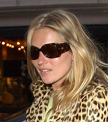 Kate Moss arriving at Claridges Hotel in central London for her 30th Birthday.