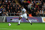 Swansea city's Wilfried Bony in action. Barclays Premier league, Swansea city v Arsenal at the Liberty Stadium in Swansea on Saturday 28th Sept 2013.  pic by Andrew Orchard, Andrew Orchard sports photography.