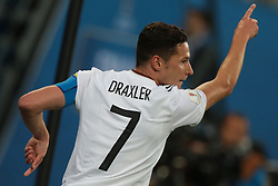 July 2, 2017 - Saint Petersburg, Russia - Julian Draxler of the Germany national football team reacts during the 2017 FIFA Confederations Cup final match between Chile and Germany at Saint Petersburg Stadium on July 02, 2017 in St. Petersburg, Russia. (Credit Image: © Igor Russak/NurPhoto via ZUMA Press)