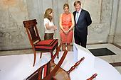 Willem Alexander en Maxima bij tentoonstelling Lodewijk Napoleon