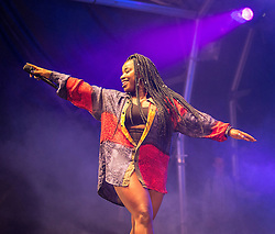 "© Licensed to London News Pictures . 25/08/2014 .  Manchester , UK . Misha B ( Misha Amber Bryan ) performs on the main stage . Manchester Pride "" Big Weekend "" in Manchester . Photo credit : Joel Goodman/LNP"