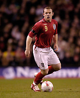 Photo: Jed Wee.<br /> England v Uruguay. International Friendly. 01/03/2006.<br /> <br /> England's Wayne Rooney.