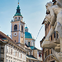 General View of Ljubljana in Slovenia