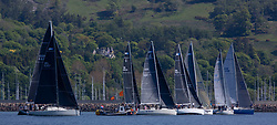 Day 3 Scottish Series, SAILING, Scotland.<br /> <br /> IRC start line off Largs Yacht Haven<br /> <br /> The Scottish Series, hosted by the Clyde Cruising Club is an annual series of races for sailing yachts held each spring. Normally held in Loch Fyne the event moved to three Clyde locations due to current restrictions. <br /> <br /> Light winds did not deter the racing taking place at East Patch, Inverkip and off Largs over the bank holiday weekend 28-30 May. <br /> <br /> Image Credit : Marc Turner / CCC