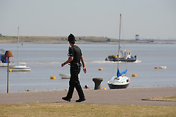 © Licensed to London News Pictures. 15/07/2013. Gravesend, UK. An RNLI lifeboat searching for a man who went missing in the water just off Gordon Promenade in Gravesend yesterday afternoon (14/07/2013). Photo credit :Grant Falvey/LNP