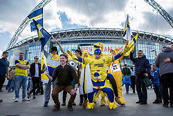 Oxford United fans dress up to cheers on their team - Photo mandatory by-line: Jason Brown/JMP -  02/04//2017 - SPORT - Football - London - Wembley Stadium - Coventry City v Oxford United - Checkatrade Trophy Final